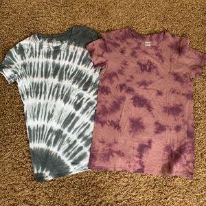 PINK Tie-dye T-shirts